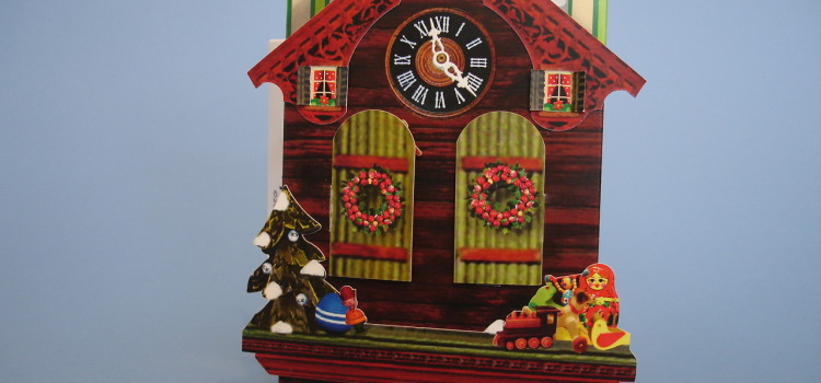 Cuckoo Clock pop-up Christmas card