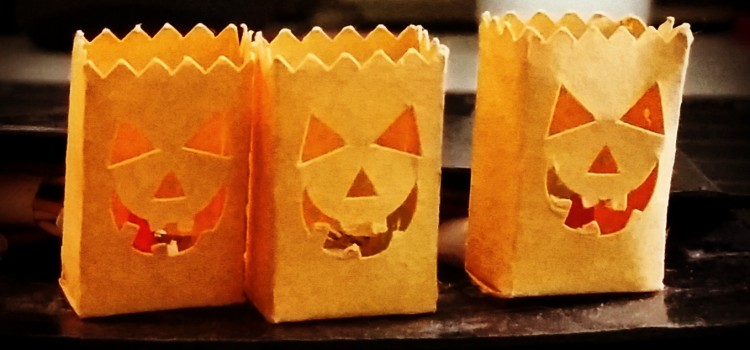 Mini Desktop Luminaries for Halloween
