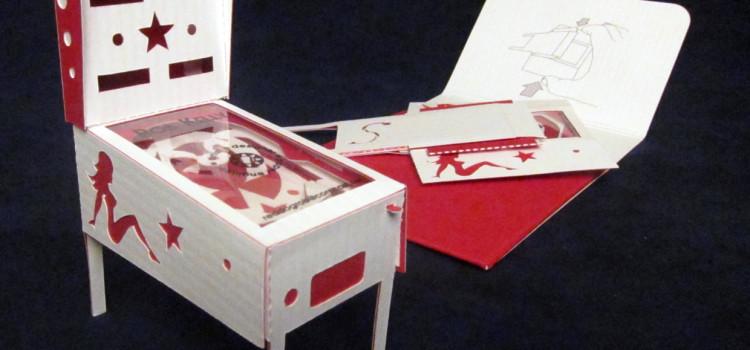 Pinball Machine Pop-up Business Card