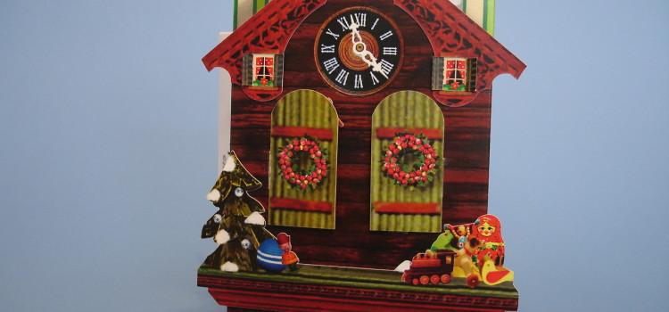 Cuckoo Clock pop-up Christmas card