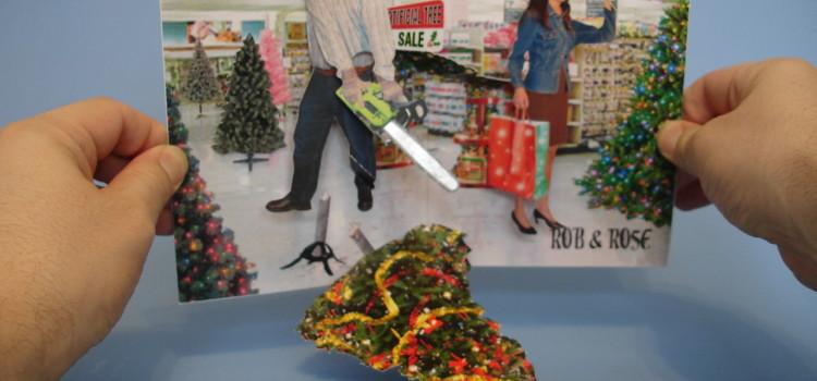 Chainsaw Christmas Card