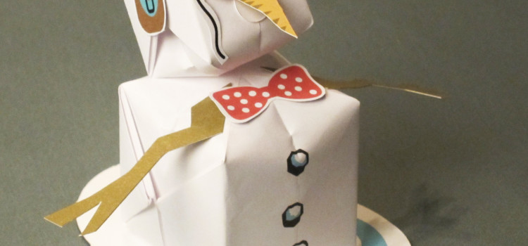Inflatable Origami Snowman Card
